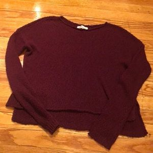 Hollister high low sweater
